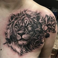 Lion Head Tattoo On Shoulder Tatoos Pinte