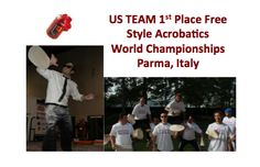 The United States Pizza Team took 1st Place for Free Style Acrobatics in the World Championships in Parma, Italy. We will keep you posted on all the events.