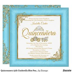 Shop Quinceanera Cinderella Blue Pearl Tiara Photo Invitation created by Zizzago. Photo Invitations, Birthday Party Invitations, Baby Shower Invitations, Custom Invitations, Teen Girl Birthday, 15th Birthday, Birthday Ideas, Blue Pearl, Gold Pearl