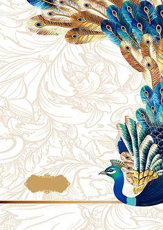 Vector peacock atmosphere estate gold background Free Background Photos, Wedding Background Images, Studio Background Images, Flower Background Wallpaper, Creative Background, Background Images Wallpapers, Gold Background, Flower Backgrounds, Indian Wedding Invitation Cards