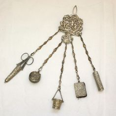 Buy Sterling silver Victorian chatelaine. Sold Items, Sold Jewellery Sydney - KalmarAntiques