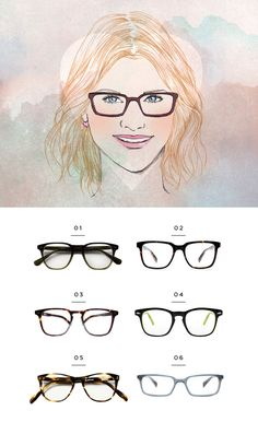 30b9150c9b70 The Most Flattering Glasses for Your Face Shape. Heart ...