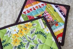 Scrap-busters!  Love the selvedge tabs!