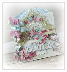 Un pequeño diario, los colores suaves son perfectos para proyectos primaverales o con niños pequeños como protagonitas.