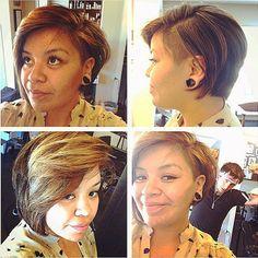 Liberated salon - Los Angeles, CA, United States. Asymmetrical pixie w/ undercut by Brandon!