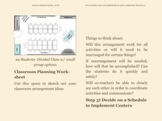 """Conference table style seating: Great for Parallel/Mirror Teaching or Alternative/flip flop Teaching when Co-teaching. Excerpt from """"Co-teaching and Collaboration in the Classroom"""" by Susan Fitzell. Available in e-book format soon!"""