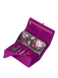 Wild and Wolf x Ted Baker London 'Shadow Flora' Jewelry Roll Jewelry Roll, Jewelry Case, Jewellery Boxes, Jewellery Storage, Purple Home Decor, Flora Design, Ted Baker Womens, Wild Wolf, Purple Velvet