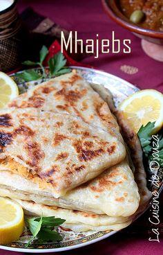 Mhadjeb, recette de mhajeb facile triangulaire