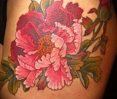 Possible colors of ink for my Peony tattoo
