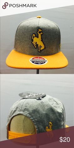 Wyoming Cowboys SnapBack by Zephyr Such a beautiful SnapBack by Zephyr!! Grey crown with a melton wool visor. Logo is in a woven almost chenille fabric!! Clean and a great look!! Zephyr Accessories Hats
