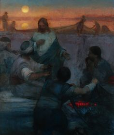 Christ and the Fishermen (Lovest Thou Me More Than These?) - J. Kirk Richards