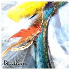 Color Mix & Feather Hair Extension Combo  I TIP Hair by BethKaya, $28.00