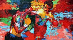 Leroy Neiman Rocky vs Apollo painting - Rocky vs Apollo print for sale