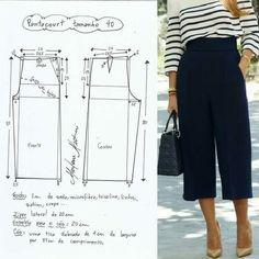 Best 7 FREE PATTERN ALERT: Pants and Skirts Sewing Tutorials – On the Cutting Floor: Printable pdf sewing patterns and tutorials for women – SkillOfKing. Sewing Pants, Sewing Clothes, Diy Clothes, Skirt Sewing, Barbie Clothes, Moda Fashion, Fashion Sewing, Dress Sewing Patterns, Clothing Patterns