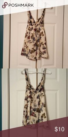 Abercrombie and Fitch tank top Floral pattern abercrombie and Fitch tank top. Only worn once in very good shape. Tops Tank Tops