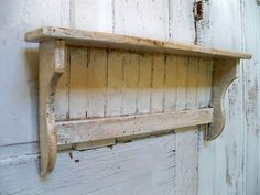 Handmade white distressed recycled wood shelf by AnitaSperoDesign, $60.00