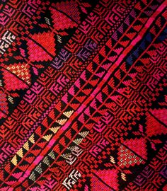 Love the colors in this Palestinian embroidery