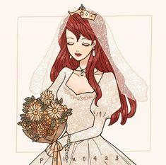Disney Princess Art, Disney Nerd, Disney Fan Art, Disney Pixar, Disney Cartoons, Disney Movies, Disney Characters, Disney Bride, Disney Designs