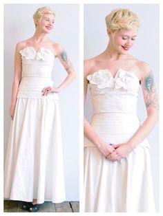 1940s Wedding Dress // Bouquet of Kisses Dress by dethrosevintage, $465.00