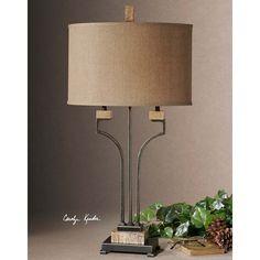 Uttermost Larimer Rustic Bronze Table Lamp 26295-1