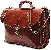 Italian Leather Briefcase Attache Cenzo - Birch and Little usd$249 we love this .