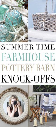 Summer Time Farmhouse Pottery Barn Knock-Offs - The Cottage Market Pottery Barn Hacks, Pottery Barn Kitchen, Farmhouse Pottery, City Farmhouse, Farmhouse Design, Cottage Farmhouse, Farmhouse Style, Farmhouse Decor, Oar Decor