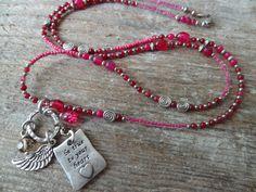 Pinke Schönheit *  Bettelkette * Anhänger * silber von Perlenzimmer auf DaWanda.com