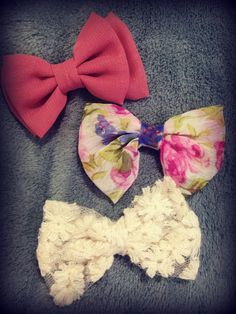 Cute hair bows I picked up from Newlook <3