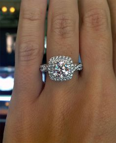 Why the soft square halo is the hottest engagement ring ever.