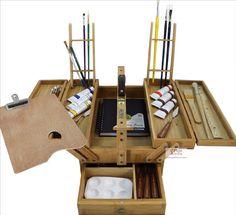 Art Toolbox Bamboo Multipurpose Large Artist Supply Case