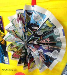 Big Bang Theory Party, comic book decorations