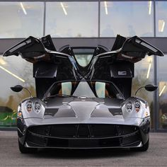 """Pagani Huayra """"Scozia"""" painted in Dark Gray w/ exposed Carbon Fiber Photo taken by: @nyexoticcars on Instagram (@paganiscozia on Instagram is the owner of the car)"""