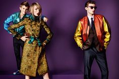 Romeo Beckham, Edie Campbell and Charlie France for Burberry spring/summer 2013