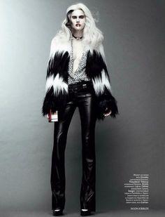 Cruella De Vil-inspired Jason Kibbler for Vogue Russia October 2011