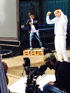 Kalin and Myles Shoot 'Trampoline' Video