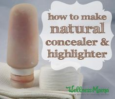 Beauty Remedies How to make natural concealer and highlighter - This natural concealer uses natural oils, shea butter, aloe and vegetable ingredients with zinc, cocoa and minerals to cover blemishes. Base Natural, Natural Oils, Organic Makeup, Organic Beauty, Lemy Beauty, Limpieza Natural, Make Your Own Makeup, Diy Make Up, Vegan Beauty