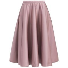 No. 21 Duchesse Skirt (2,150 PEN) ❤ liked on Polyvore featuring skirts, brown midi skirt, ruched skirt, mid-calf skirts, shirred skirt and calf length skirts