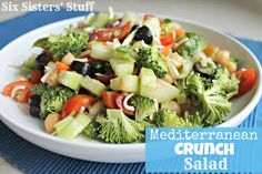 Mediterranean Crunch Salad from Six Sisters' Stuff is delicious and light!