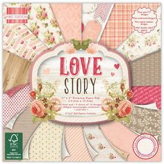 First Edition Love Story Paper 6 X 6 Inches 64 Pack | Hobbycraft