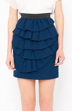 3.1 Phillip Lim Blue And Black Skirt