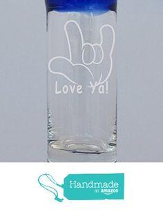 Love Ya Design Aruba 3 oz. Shot Glass Engraved Sandblasted Etched from Algrium Engraving & Jewelry http://www.amazon.com/dp/B016TXC3FQ/ref=hnd_sw_r_pi_dp_M8kzwb0P16PK0 #handmadeatamazon