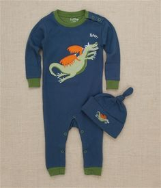 Hatley Store: Hatley Dragons Infant Coverall and Knot Cap Kids Pajamas, Cute Baby Clothes, Wetsuit, Dragons, Cute Babies, Knot, Kids Outfits, Infant, Cap