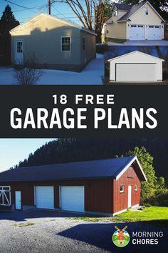 18 Free DIY Garage Plans