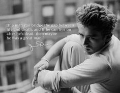 - James Dean tin wall poster. This is another one of my favorite JD quotes