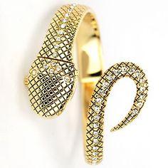 Women'S Snake Quatz Analog Golden Bracelet Wrist Watch - USD $ 16.89