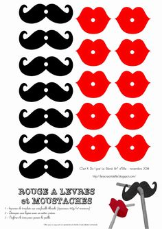 kit+moustache+++rouge+à+lèvres. Moustache Party, Diy And Crafts, Paper Crafts, Mexican Party, Ideas Para Fiestas, Pajama Party, Photo Booth Props, Diy Party, Holidays And Events