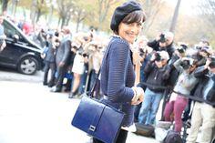 Inès de la Fressange http://www.vogue.fr/defiles/street-looks/diaporama/street-looks-a-la-fashion-week-de-paris-jour-8-1/15531/image/867055#!ines-de-la-fressange