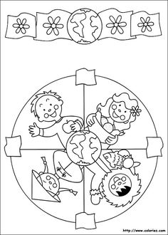 91 Mandalas printable coloring pages for kids. Find on coloring-book thousands of coloring pages. Mandala Coloring Pages, Colouring Pages, Coloring Sheets, Coloring Books, Harmony Day, Cultures Du Monde, Religion Catolica, World Thinking Day, World Crafts