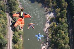Bridge Day BASE Jumping-New River Gorge (See videos by clicking on pic)