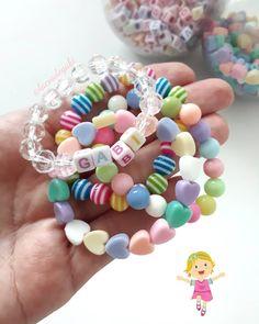 Laços de Gabi® 🎀 (@lacosdegabi) • Fotos e vídeos do Instagram Easy Art For Kids, Diy Crafts For Kids Easy, Easy Kids Art Projects, Crafts For Girls, Diy For Girls, Diy And Crafts, Little Girl Jewelry, Kids Jewelry, Jewelry Making Beads